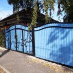 Забор из профнастила и ворота